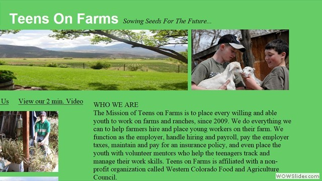 Teens on Farms